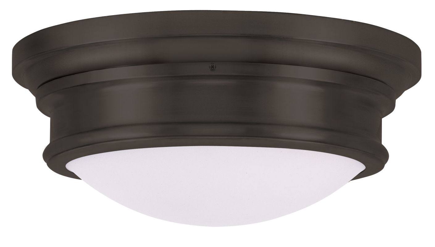 Livex Lighting 7343 6.5 Inch Tall Flush Mount Ceiling Fixture with 3
