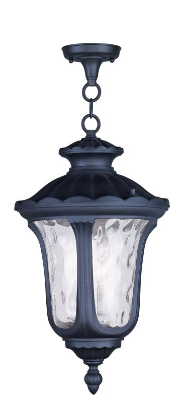 Livex Lighting 7858 Oxford 3 Light Outdoor Pendant Black Outdoor