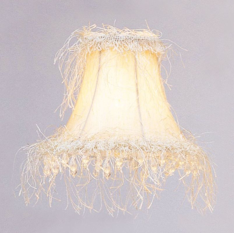 Livex Lighting S106 Chandelier Shade with Off White Silk Bell Clip