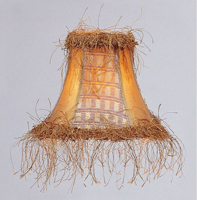 Livex Lighting S109 Chandelier Shade with Gold Panel Silk Bell Clip