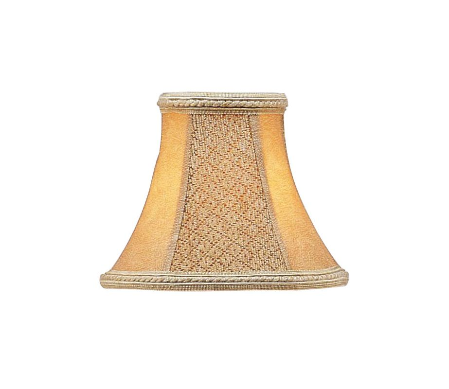 Livex Lighting S120 Chandelier Shade with Tan Suede Bell Clip Shade
