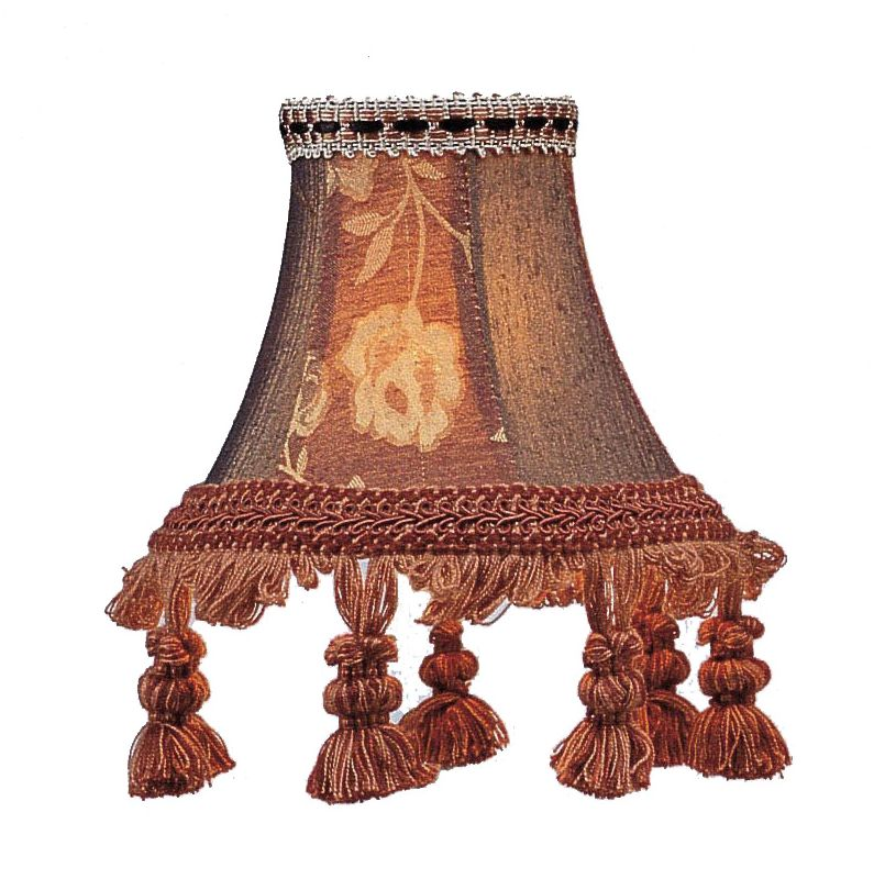 Livex Lighting S124 Chandelier Shade with Burgundy Floral Bell Clip Sale $19.90 ITEM: bci1035168 ID#:S124 :