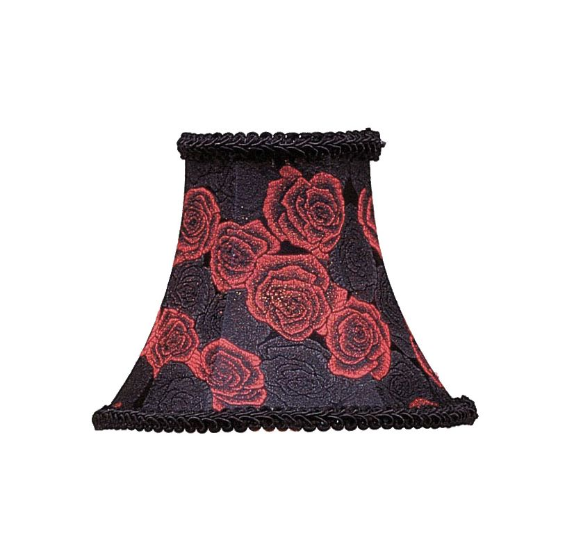 Livex Lighting S127 Chandelier Shade with Black/Red Rose Bell Clip Sale $19.90 ITEM: bci1035170 ID#:S127 :