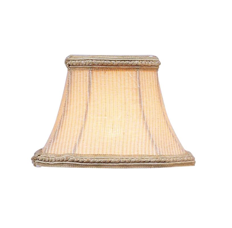 Livex Lighting S129 Chandelier Shade with Cream Pinstripe Square Clip