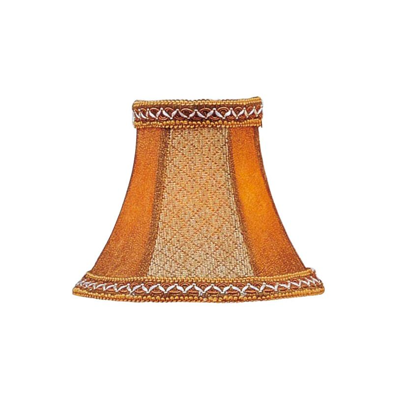 Livex Lighting S136 Chandelier Shade with Tan/Brown Suede Bell Clip