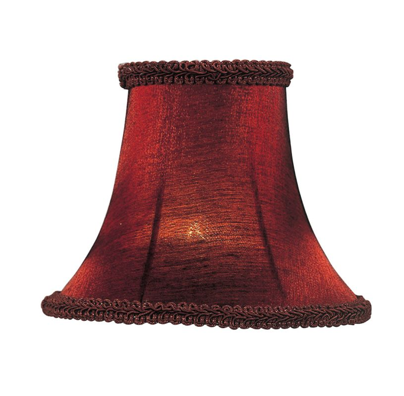 Livex Lighting S157 Chandelier Shade with Red Silk Bell Clip Shade Sale $19.90 ITEM: bci1035195 ID#:S157 :