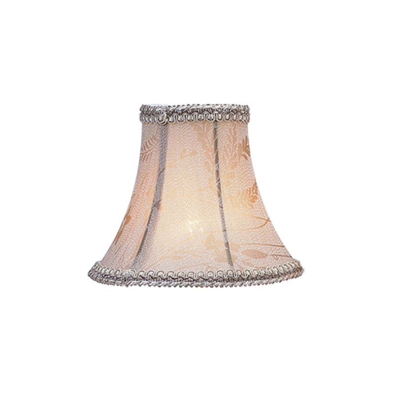 Livex Lighting S218 Chandelier Shade with Taupe Floral Print Bell Clip