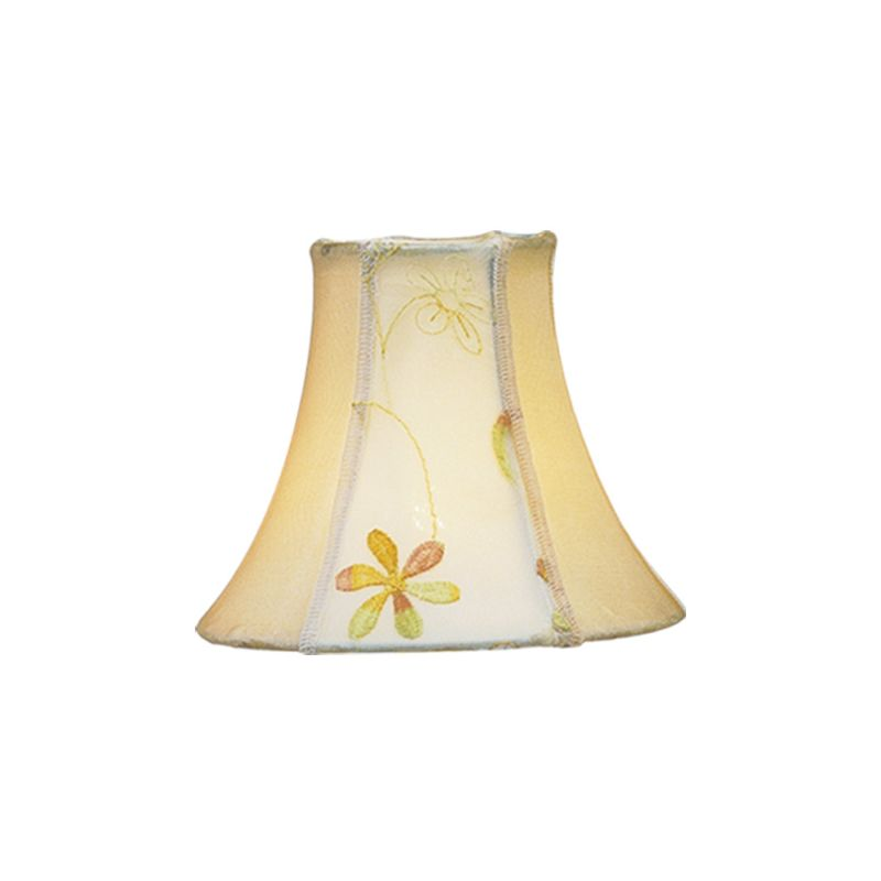 Livex Lighting S219 Chandelier Shade with Embroidered Floral Silk Bell