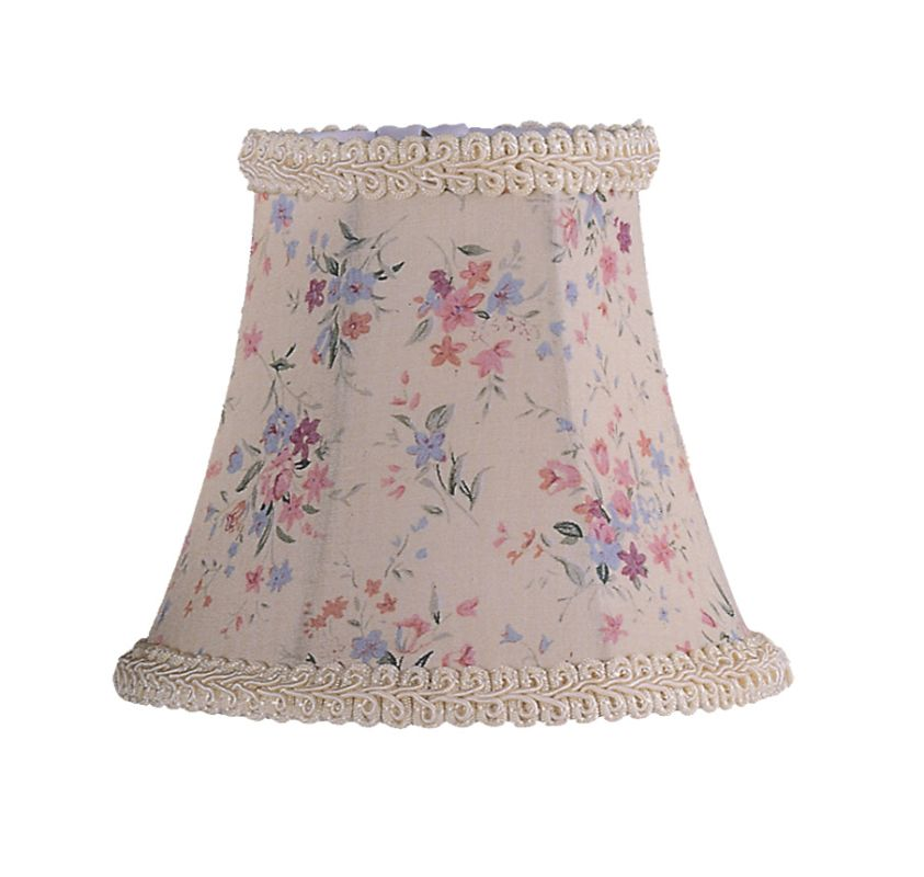 Livex Lighting S272 Chandelier Shade with Cream Floral Print Bell Clip