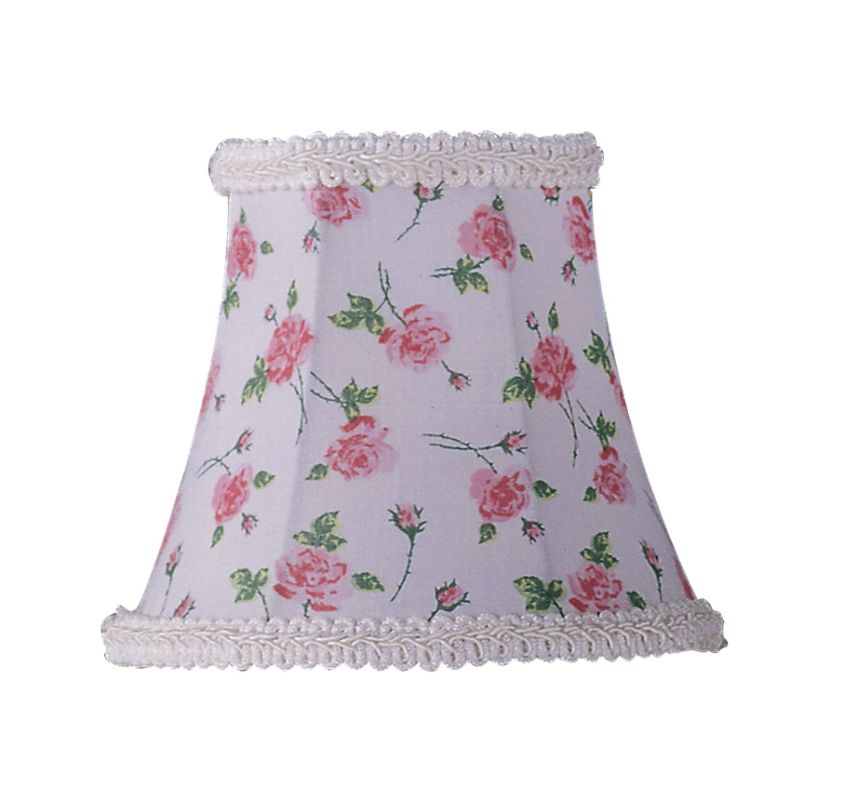 Livex Lighting S273 Chandelier Shade with White Floral Print Bell Clip