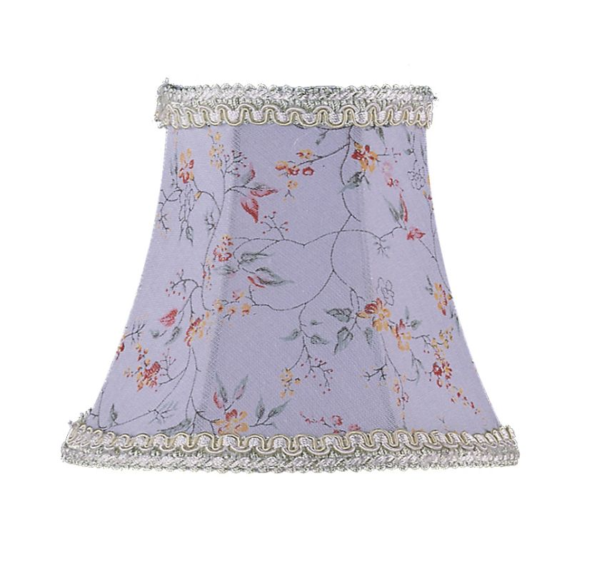 Livex Lighting S274 Chandelier Shade with Sky Blue Floral Print Bell