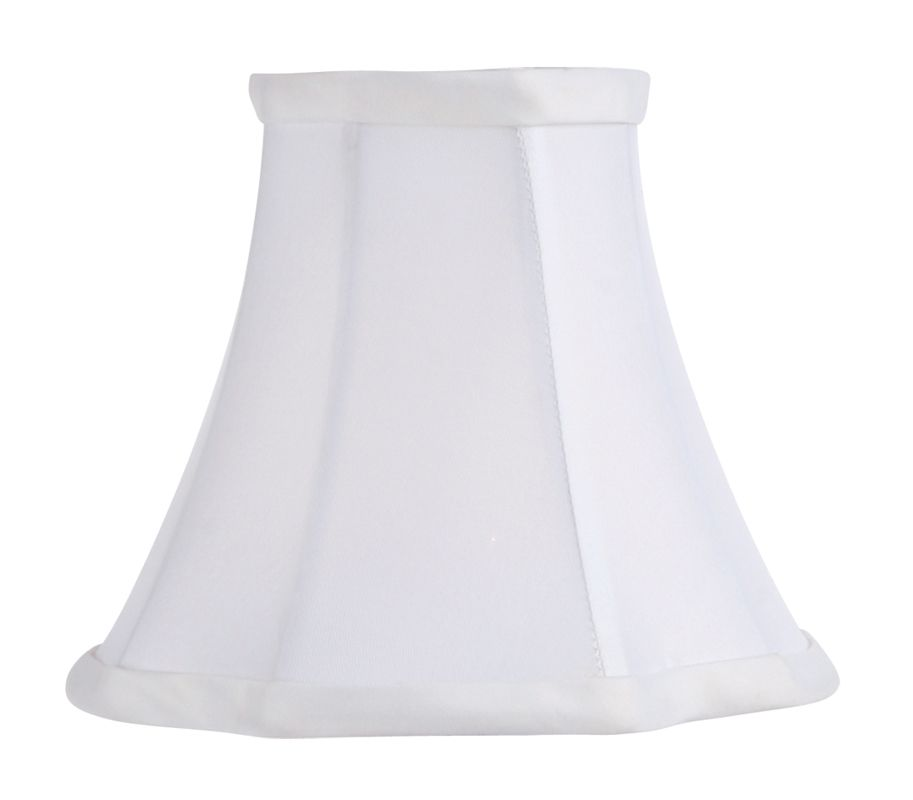 Livex Lighting S286 Chandelier Shade with White French Oval Silk Clip