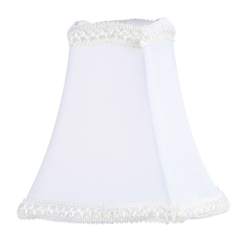 Livex Lighting S289 Chandelier Shade with White Fancy Square Silk Clip