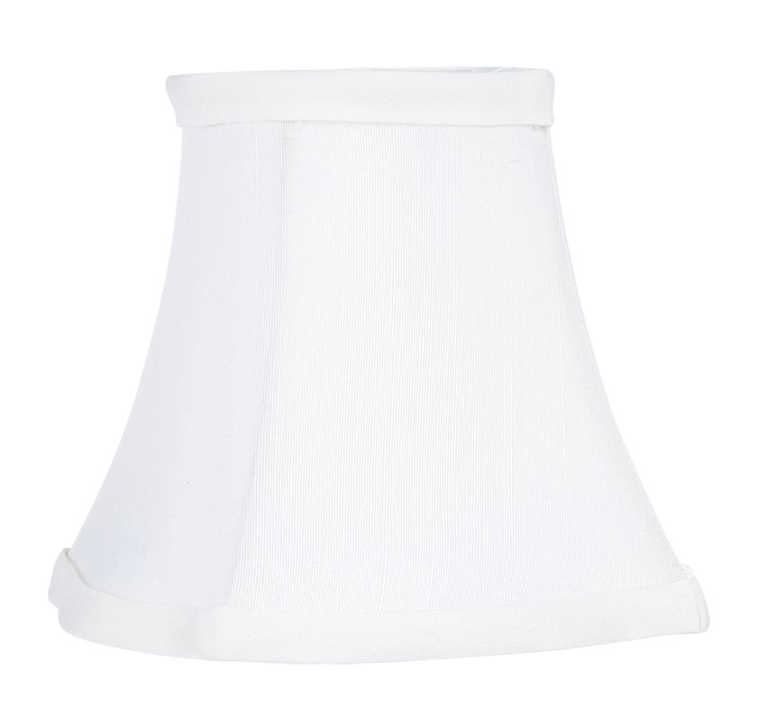 Livex Lighting S295 Chandelier Shade with White Fancy Square Silk Clip