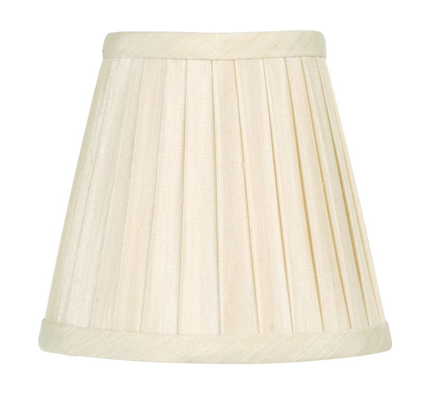 Livex Lighting S316 Chandelier Shade with Off White Pleat Empire Silk