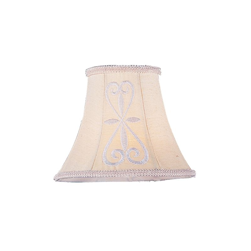 Livex Lighting S318 Chandelier Shade with Hand Embroidered Silk Shade