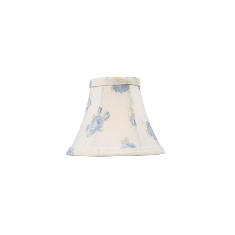 Livex Lighting S323 Chandelier Shade with White with Blue Floral Print