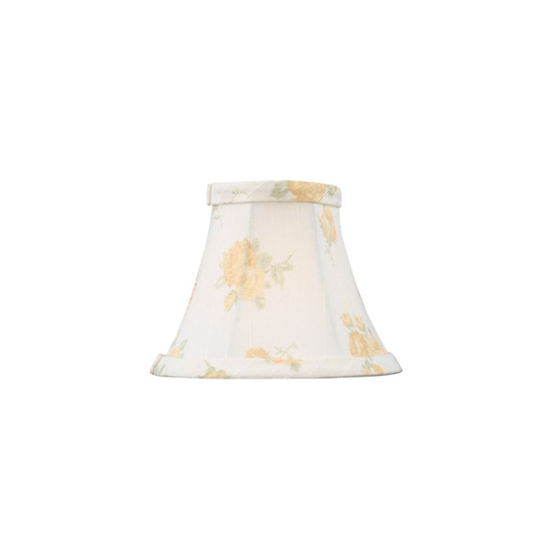 Livex Lighting S324 Chandelier Shade with White with Peach Floral