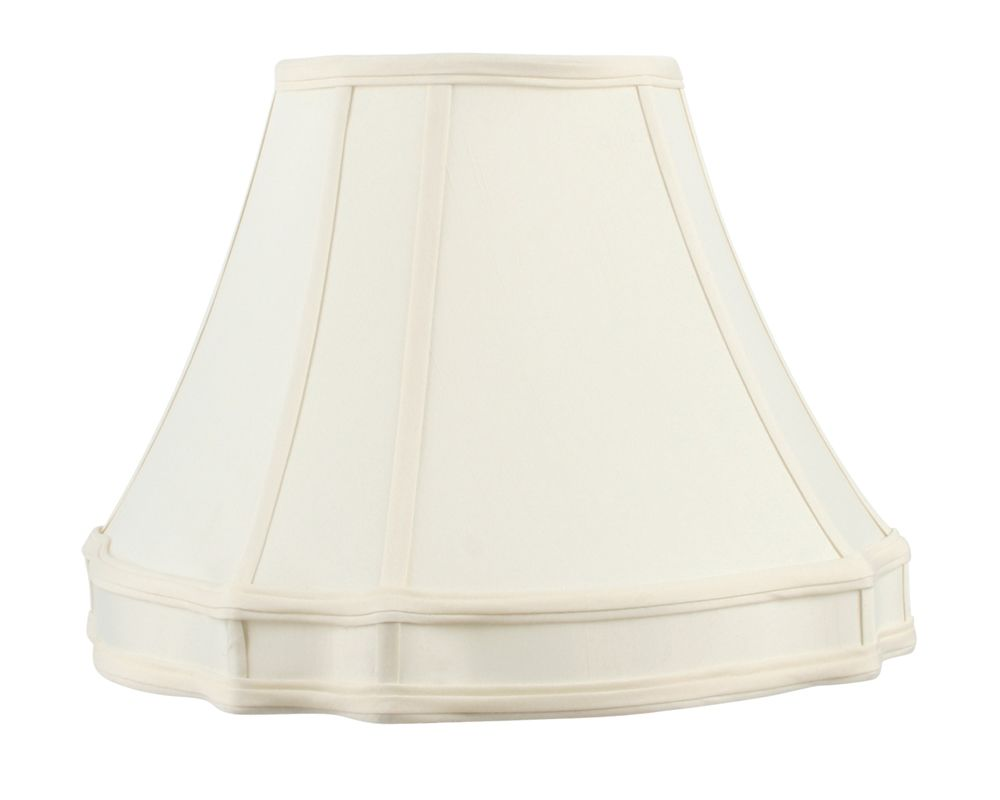 Livex Lighting S526 Lampshade with Off White Round Top/Curved Cut