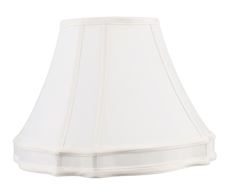 Livex Lighting S530 Lampshade with White Round Top/Curved Cut Corner