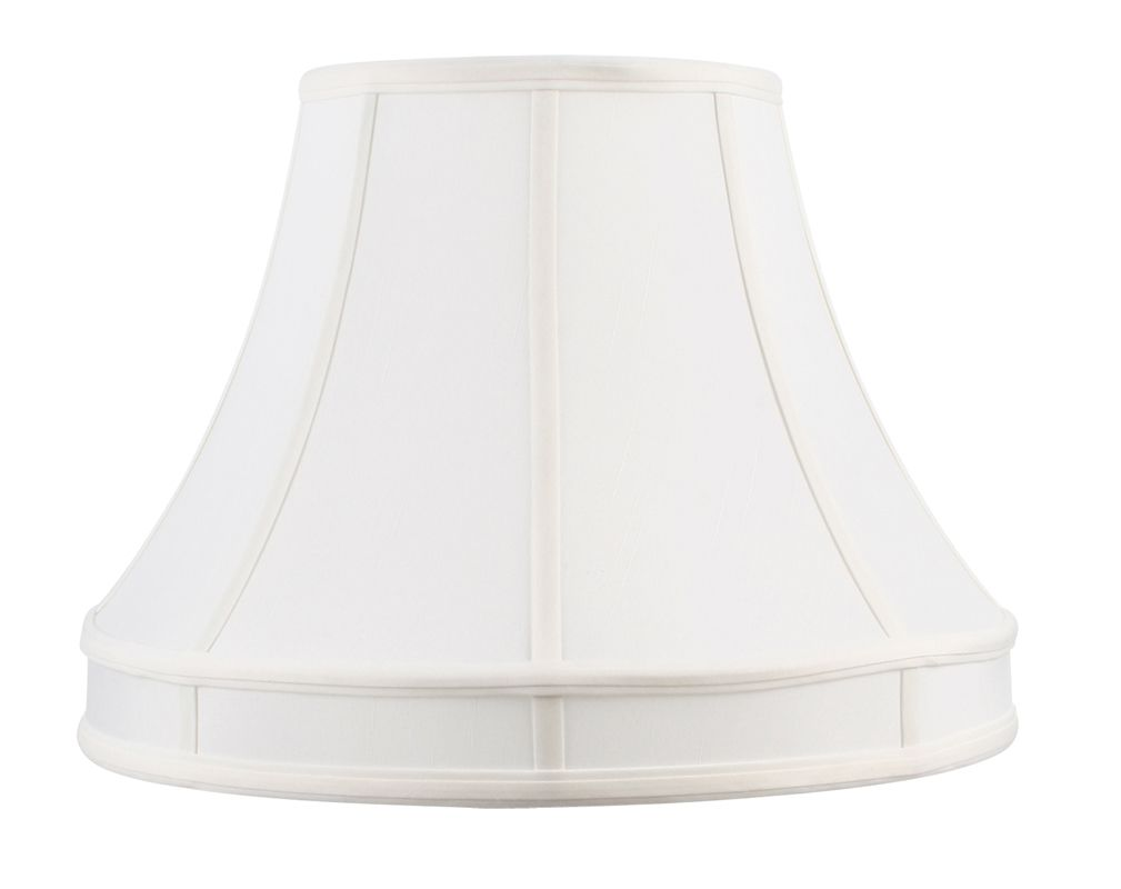 Livex Lighting S537 Lampshade with White Shantung Silk Shade from