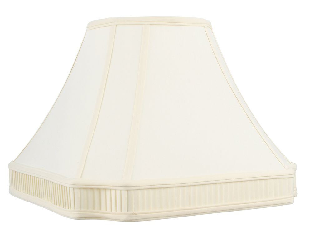 Livex Lighting S538 Lampshade with Off White Round Cut Corner Shantung