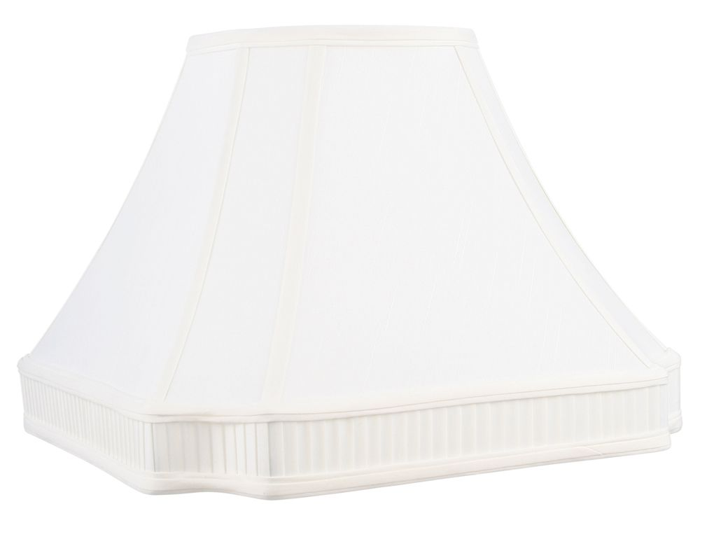 Livex Lighting S541 Lampshade with White Round Cut Corner Shantung