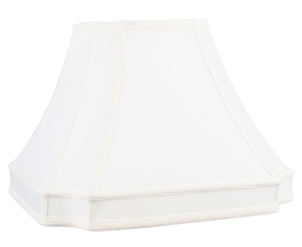 Livex Lighting S549 Lampshade with White Round Cut Corner Shantung