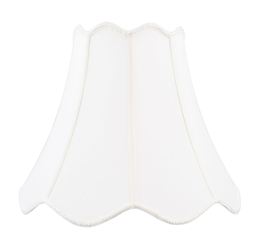 Livex Lighting S560 Lampshade with White Top/Bottom Scallop Shantung