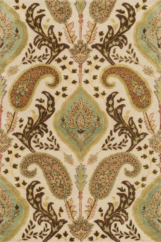 Loloi Rugs Antalya 01IVML Hand Tufted Wool Transitional Area Rug 4 x 6