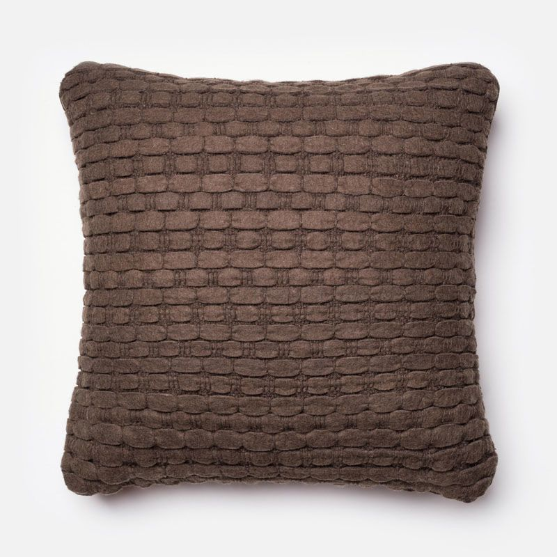 Loloi Rugs P0040 Brown Brown Pillow with Wool and Cotton Cover and Sale $52.00 ITEM: bci2801403 ID#:DSETP0040BR00PIL3 UPC: 885369258015 :