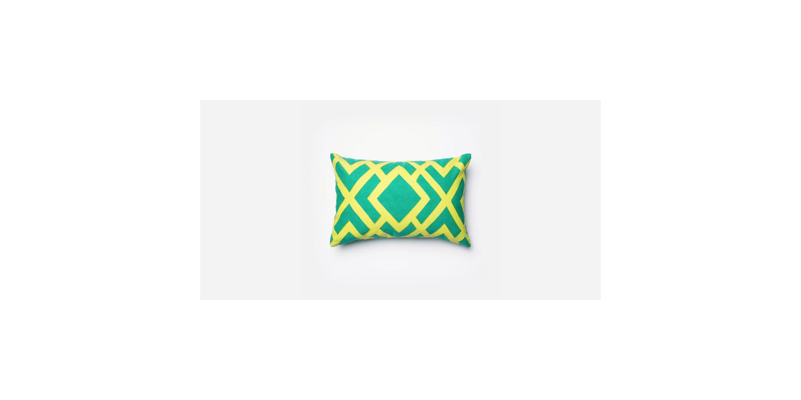 Loloi Rugs P0131 Green and Green Green and Green Pillow with Cotton