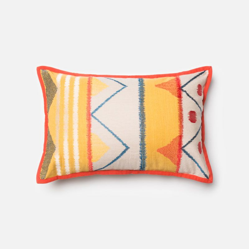 Loloi Rugs P0163 Yellow and Multi Yellow and Multi-Colored Pillow with