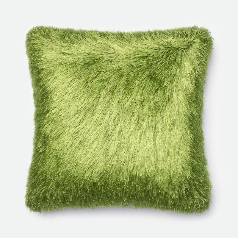 Loloi Rugs P0245 Green Green Pillow with Polyester Cover and Choice of