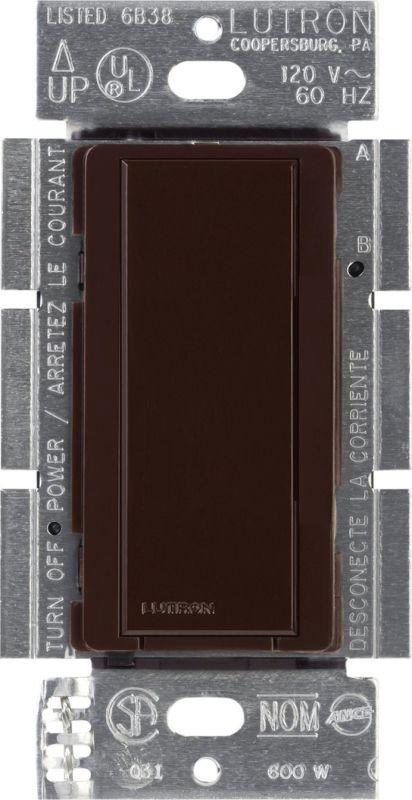Lutron MA-AS Maestro 120 Volt Companion Switch Brown Lighting Controls