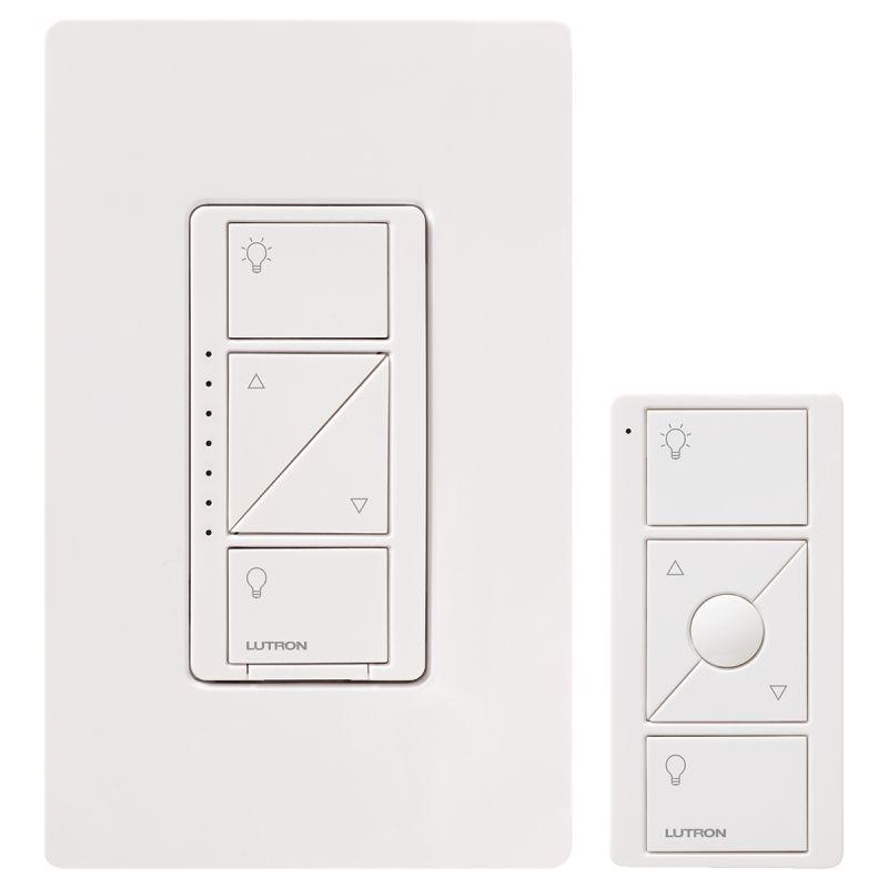 Lutron P-PKG1W-WH-R Caseta Wireless 150-Watt Multi-Location In-Wall