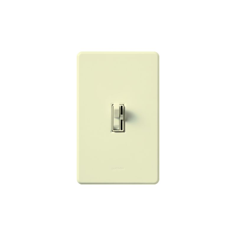 Lutron AY-10P Ariadni 1000 Watt/120 Volt Single Pole Preset Dimmer Sale $39.86 ITEM: bci286906 ID#:AY-10P-AL UPC: 27557121286 Lutron AY-10P Ariadni 1000 Watt/120 Volt Single Pole Preset Dimmer It looks like a traditional light switch at first glance, but is actually a state of the art incandescent/halogen 1000 watt 120 volt single pole dimmer. Featuring a traditional looking light switch paired with a small slider that controls the dimmer level, this unit also includes preset dimming for the perfect light level every time you turn it on. These Lutron dimmers are designed to replace or match your traditional style switches. Save energy and extend bulb life with the Ariadni's easy-to-use toggle switch and small slide dimmer. Designed with a shallow 1-inch deep back cover for easy installation, Ariadni works with your existing traditional multi-gang wall plates. Lutron AY-10P Features: Features toggle switch and small preset slide dimmer Shallow 1-inch deep back cover for easy installation Matching Fassada® gloss wall plates available separately Power failure memory Superior RFI suppression UL and CSA Listed Lutron AY-10P Specifications: Single-Pole Voltage: 120 Wattage: 1000 The story of Lutron began in a makeshift lab in a New York City home in 1959 where Joel Spira emerged with a radical new innovation in home lighting: the solid-state rotary dimmer. In almost 50 years of innovation, Lutron has invented hundreds of lighting control devices and systems, and expanded their product offering from 2 products to 15,000. Lutron dimmers not only set the perfect mood in a home, they also reduce energy consumption and extend lamp life. Taken as a whole, Lutron light controls have reduced electrical use by 9.2 billion kWh, reducing their customers' electric bills by $1 billion annually. The company has advanced the technology of lighting control while focusing on exceptional quality and design. Since the beginning, the company has maintained exceptional service, offering 24-ho