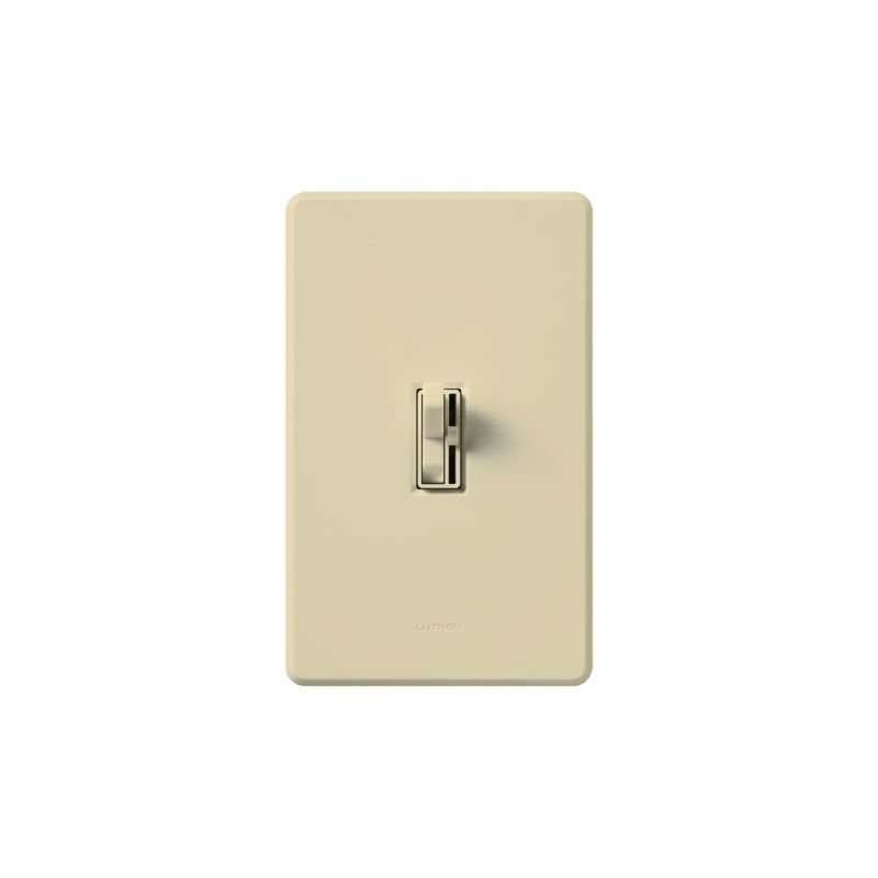 Lutron AY-10P Ariadni 1000 Watt/120 Volt Single Pole Preset Dimmer Sale $39.86 ITEM: bci286908 ID#:AY-10P-IV UPC: 27557670487 Lutron AY-10P Ariadni 1000 Watt/120 Volt Single Pole Preset Dimmer It looks like a traditional light switch at first glance, but is actually a state of the art incandescent/halogen 1000 watt 120 volt single pole dimmer. Featuring a traditional looking light switch paired with a small slider that controls the dimmer level, this unit also includes preset dimming for the perfect light level every time you turn it on. These Lutron dimmers are designed to replace or match your traditional style switches. Save energy and extend bulb life with the Ariadni's easy-to-use toggle switch and small slide dimmer. Designed with a shallow 1-inch deep back cover for easy installation, Ariadni works with your existing traditional multi-gang wall plates. Lutron AY-10P Features: Features toggle switch and small preset slide dimmer Shallow 1-inch deep back cover for easy installation Matching Fassada® gloss wall plates available separately Power failure memory Superior RFI suppression UL and CSA Listed Lutron AY-10P Specifications: Single-Pole Voltage: 120 Wattage: 1000 The story of Lutron began in a makeshift lab in a New York City home in 1959 where Joel Spira emerged with a radical new innovation in home lighting: the solid-state rotary dimmer. In almost 50 years of innovation, Lutron has invented hundreds of lighting control devices and systems, and expanded their product offering from 2 products to 15,000. Lutron dimmers not only set the perfect mood in a home, they also reduce energy consumption and extend lamp life. Taken as a whole, Lutron light controls have reduced electrical use by 9.2 billion kWh, reducing their customers' electric bills by $1 billion annually. The company has advanced the technology of lighting control while focusing on exceptional quality and design. Since the beginning, the company has maintained exceptional service, offering 24-ho