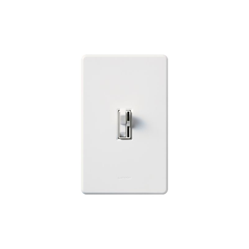 Lutron AY-600PNL Ariadni 600 Watt/120 Volt Single Pole Preset Dimmer Sale $18.25 ITEM: bci286925 ID#:AY-600PNL-WH UPC: 27557670418 Lutron AY-600PNL Ariadni 600 Watt/120 Volt Single Pole Preset Dimmer with Locator Light Designed to match your existing conventional light switches, this advanced incandescent/halogen 600 watt 120 volt single pole dimmer with locator light will add discreet cutting edge functionality to your lighting setup. Featuring an LED locator light for added safety and convenience in the dark, this traditionally styled dimmer always turns on to your preset light level according to the slider setting. These Lutron dimmers are designed to replace or match your traditional style switches. Save energy and extend bulb life with the Ariadni's easy-to-use toggle switch and small slide dimmer. Designed with a shallow 1-inch deep back cover for easy installation, Ariadni works with your existing traditional multi-gang wall plates. Lutron AY-600PNL Features: Shallow 1-inch deep back cover for easy installation Built-in soft glow locator light visible in the dark Matching Fassada® gloss wall plates available separately Power failure memory Superior RFI suppression UL and CSA Listed Lutron AY-600PNL Specifications: Single-Pole Voltage: 120 Wattage: 600 The story of Lutron began in a makeshift lab in a New York City home in 1959 where Joel Spira emerged with a radical new innovation in home lighting: the solid-state rotary dimmer. In almost 50 years of innovation, Lutron has invented hundreds of lighting control devices and systems, and expanded their product offering from 2 products to 15,000. Lutron dimmers not only set the perfect mood in a home, they also reduce energy consumption and extend lamp life. Taken as a whole, Lutron light controls have reduced electrical use by 9.2 billion kWh, reducing their customers' electric bills by $1 billion annually. The company has advanced the technology of lighting control while focusing on exceptional quality and design. Since the beginning, the company has maintained exceptional service, offering 24-hour technical support for its products, and a friendly customer service department. :
