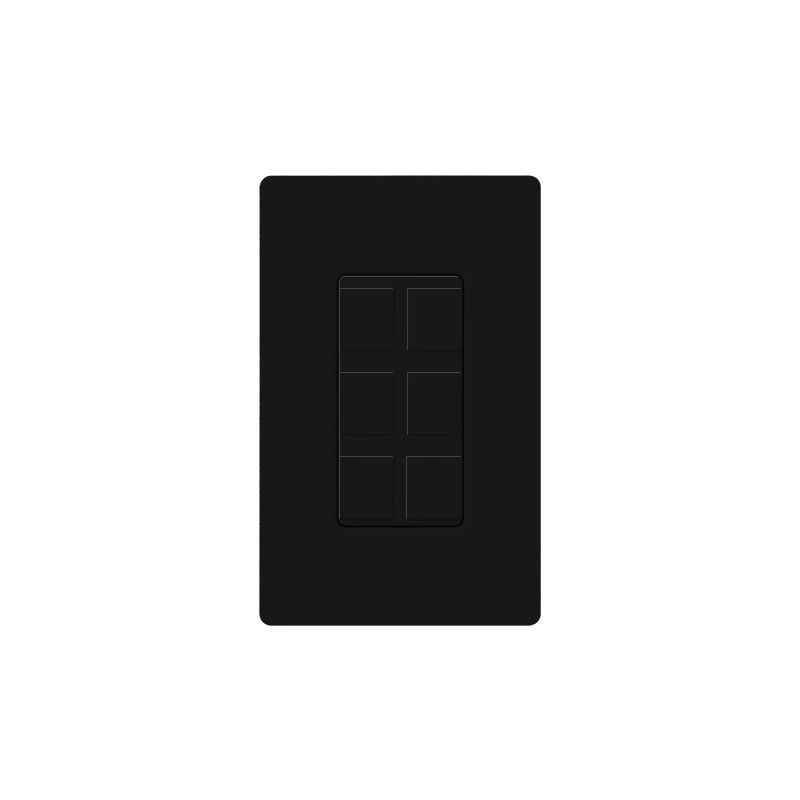 Lutron CA-6PF Claro Designer Six Port Blank Frame Black Indoor