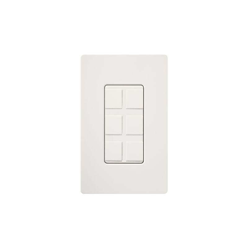 Lutron CA-6PF Claro Designer Six Port Blank Frame White Indoor