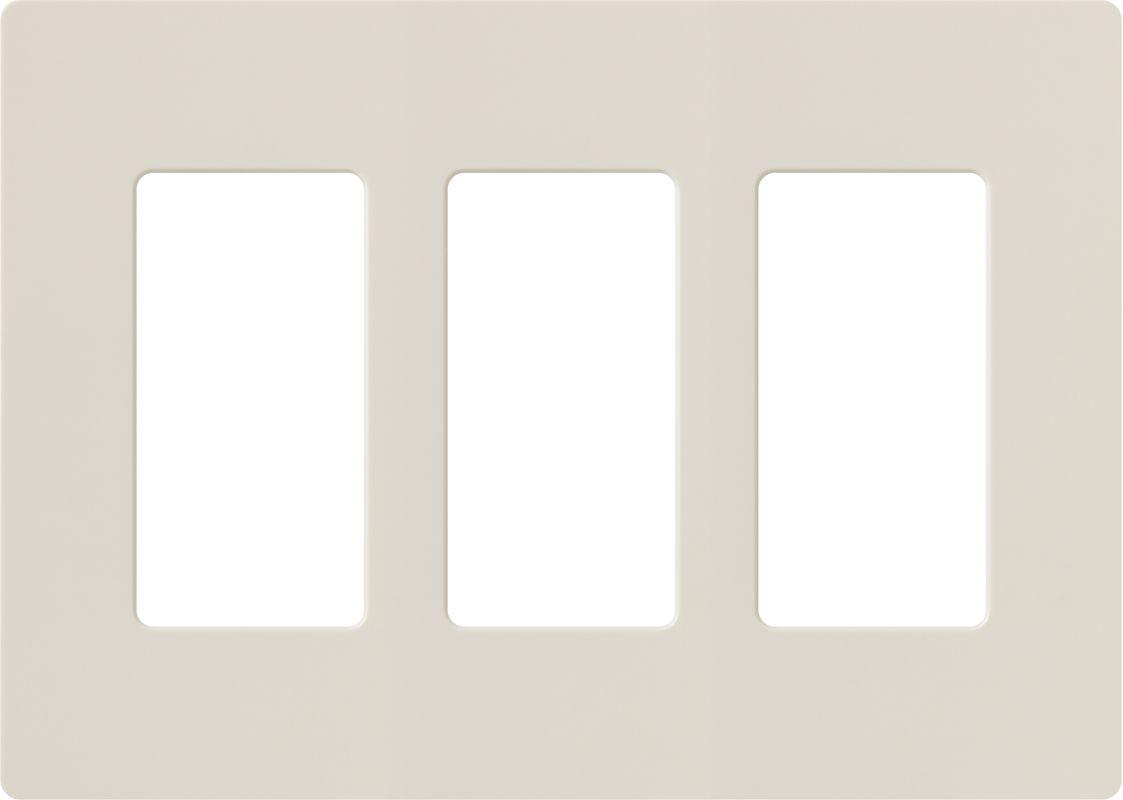 Lutron CW-3 Claro Three Gang Designer Wall Plate Light Almond Wall Sale $13.19 ITEM: bci1849994 ID#:CW-3-LA UPC: 27557513180 :