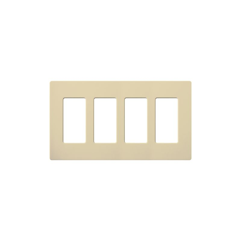 Lutron CW-4-12 Claro Contractor 12 Pack of Four Gang Designer Wall Sale $189.60 ITEM: bci1850004 ID#:CW-4-IV-12 UPC: 27557157148 :