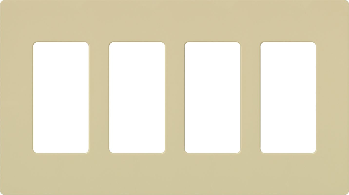 Lutron CW-4 Claro Four Gang Designer Wall Plate Ivory Wall Controls Sale $17.51 ITEM: bci1850003 ID#:CW-4-IV UPC: 27557692250 :