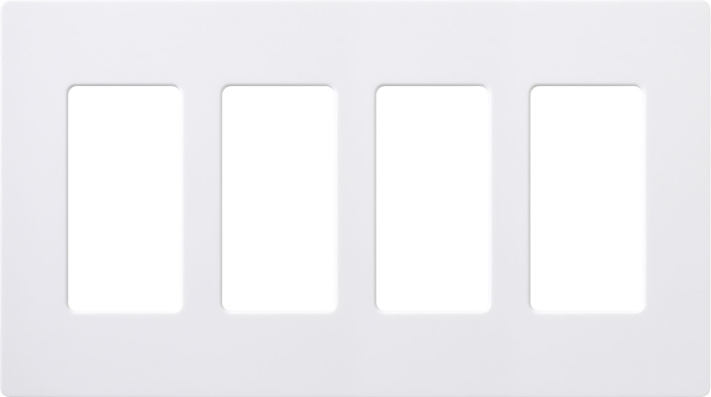 Lutron CW-4 Claro Four Gang Designer Wall Plate White Wall Controls Sale $17.51 ITEM: bci1105454 ID#:CW-4-WH UPC: 27557692236 :