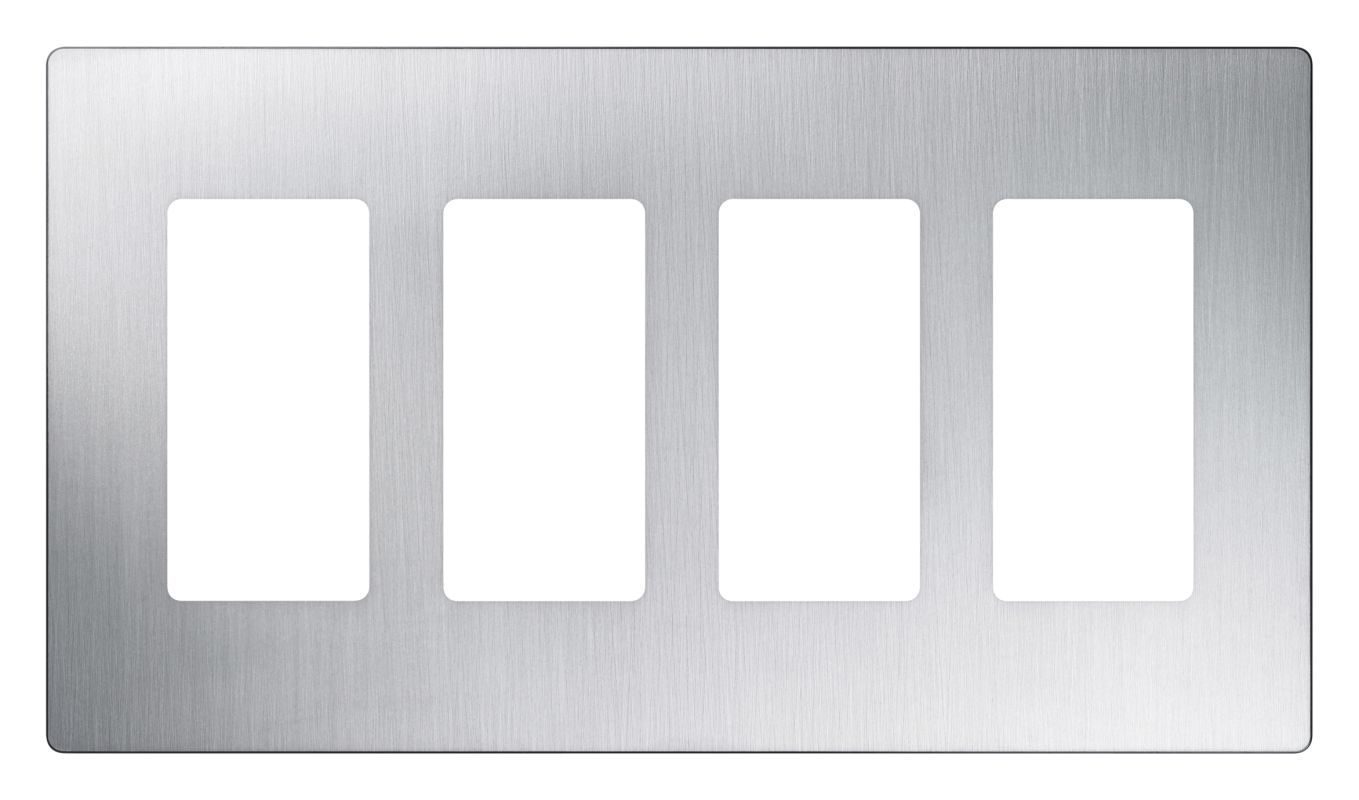 Lutron CW-5 Claro Five Gang Designer Wall Plate Stainless Steel Wall