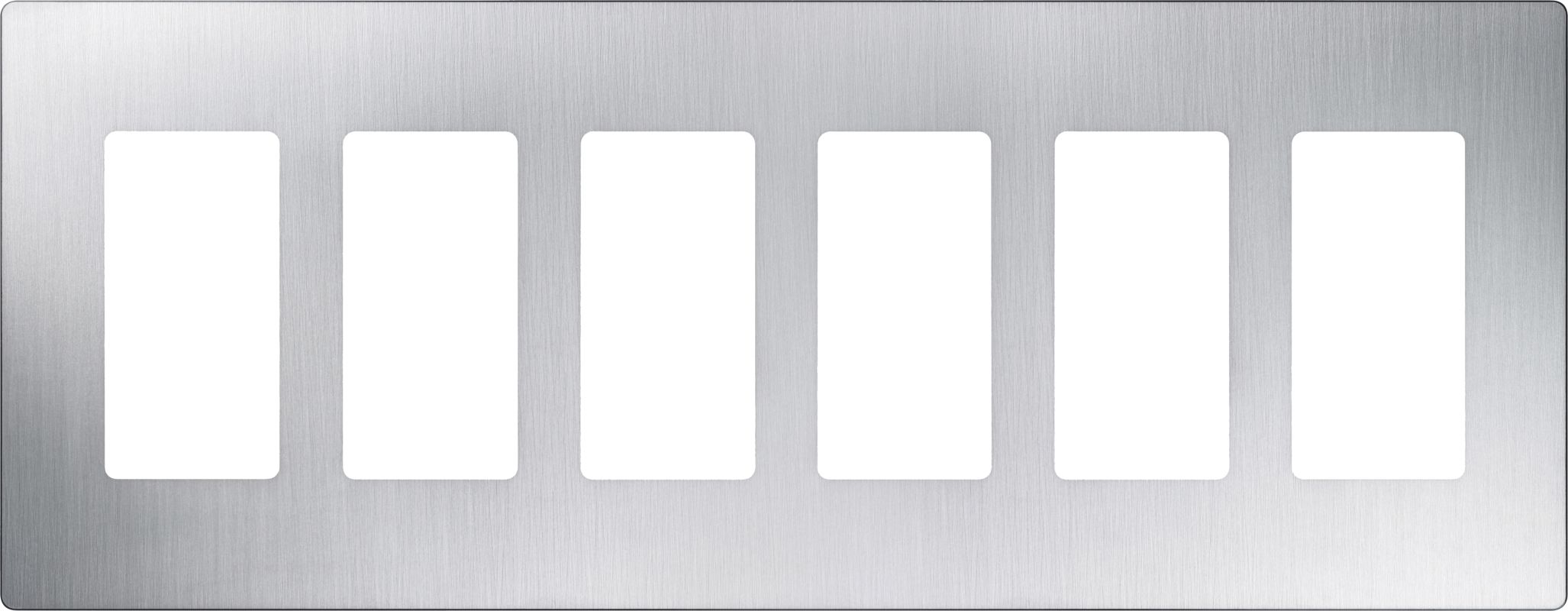 Lutron CW-6 Claro Six Gang Designer Wall Plate Stainless Steel Wall Sale $69.66 ITEM: bci1850021 ID#:CW-6-SS UPC: 27557223294 :