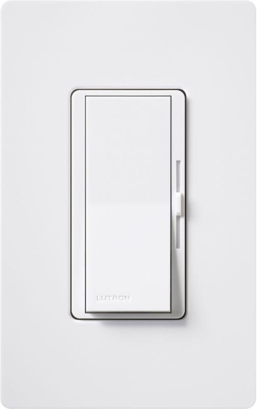Lutron DVTV Diva 120 Volt 16 Ampere Fluorescent 0-10 VDC Preset Dimmer -  DVTV-WH
