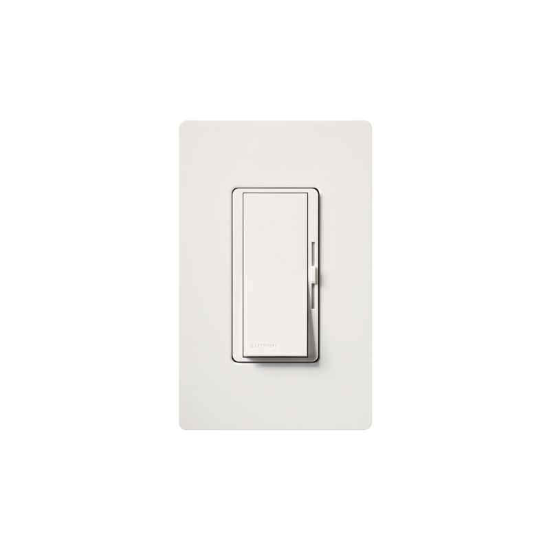 Lutron DVW-603PH Diva 600 Watt 120 Volt 3-Way Incandescent/Halogen Sale $31.44 ITEM: bci1850529 ID#:DVW-603PH-WH UPC: 27557528115 Lutron DVW-603PH Diva 600 Watt 120 Volt 3-Way Incandescent/Halogen Preset Dimmer with Locator Light and wall plate 3-Way 120 volt 600 watt Incandescent/Halogen preset dimmer with locator light and wall plate. The Diva paddle switch automatically returns to your favorite pre-selected light level. A simple and elegant solution designed to match your existing designer style switches and accessories. Easily turn the lights on and off with the paddle switch. Lutron DVW-603PH Features: Matches existing designer-style switches Features a large paddle switch and a small slider 3-Way Model: Lights can be controlled from more than one location Power failure memory Standard RFI suppression UL and CSA Listed Rated at 120 VAC, 60 Hz Lutron DVW-603PH Specifications: 3-Way Voltage: 120 Wattage: 600 The story of Lutron began in a makeshift lab in a New York City home in 1959 where Joel Spira emerged with a radical new innovation in home lighting: the solid-state rotary dimmer. In almost 50 years of innovation, Lutron has invented hundreds of lighting control devices and systems, and expanded their product offering from 2 products to 15,000. Lutron dimmers not only set the perfect mood in a home, they also reduce energy consumption and extend lamp life. Taken as a whole, Lutron light controls have reduced electrical use by 9.2 billion kWh, reducing their customers' electric bills by $1 billion annually. The company has advanced the technology of lighting control while focusing on exceptional quality and design. Since the beginning, the company has maintained exceptional service, offering 24-hour technical support for its products, and a friendly customer service department. :