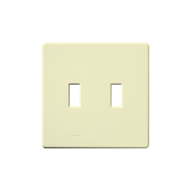 Lutron FG-2 Fassada Two-Gang wall plate Almond Wall Controls Switch